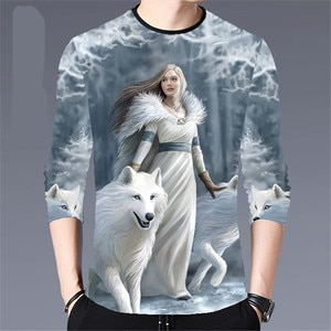 New Men's Autumn 2020 Casual Long-Sleeved T-Shirt Fashion Printing Young And Middle-Aged Trend Large Size Bottoming Shirt M- 4XL