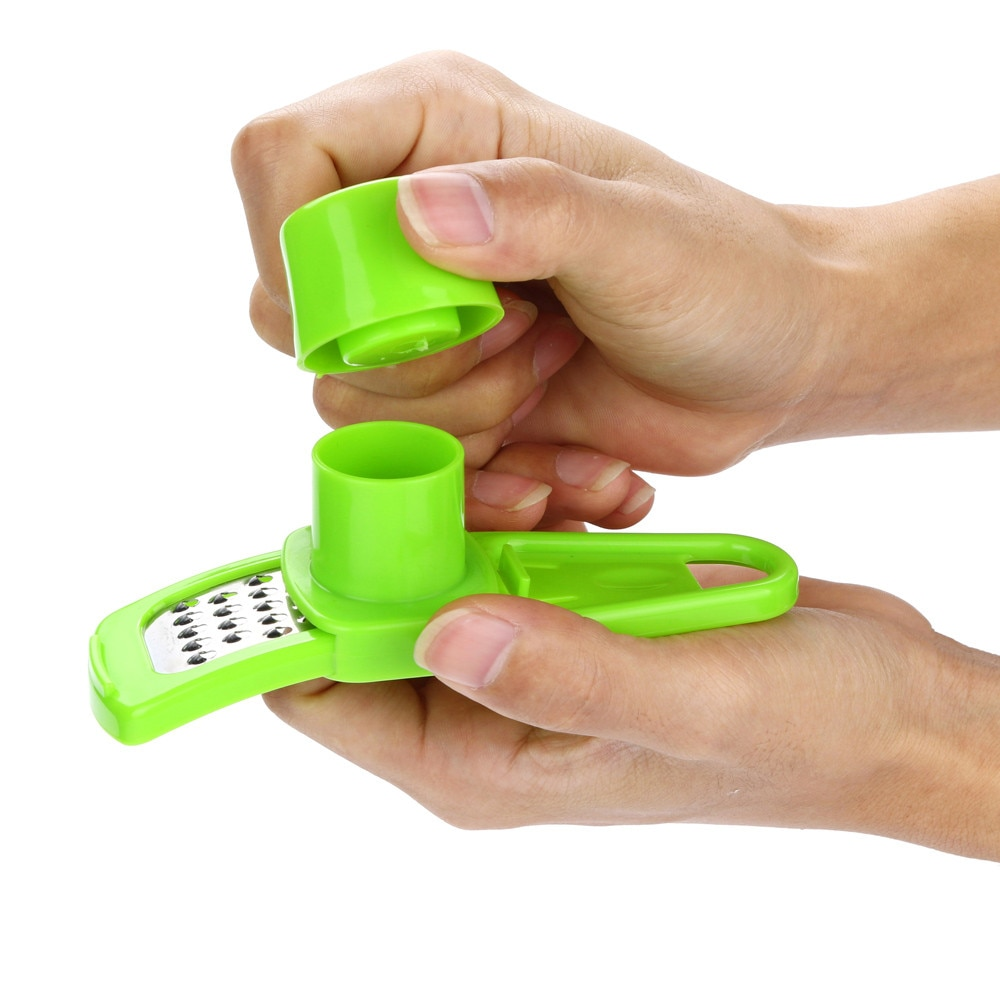 Color dulce para cocina accesorios plástico jengibre ajo herramienta trituradora de silicona mágica pelador cortador rallador cepillador
