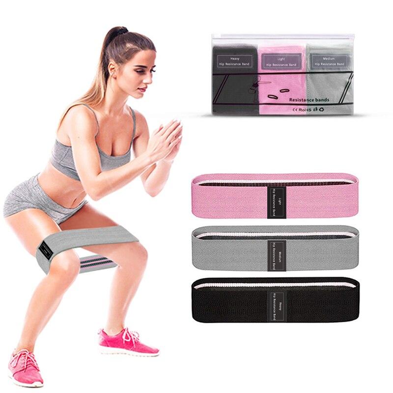 3 unids/set bandas de resistencia de Yoga bandas de resistencia Squat Pilates correa para ejercicio Fitness entrenamiento muscular