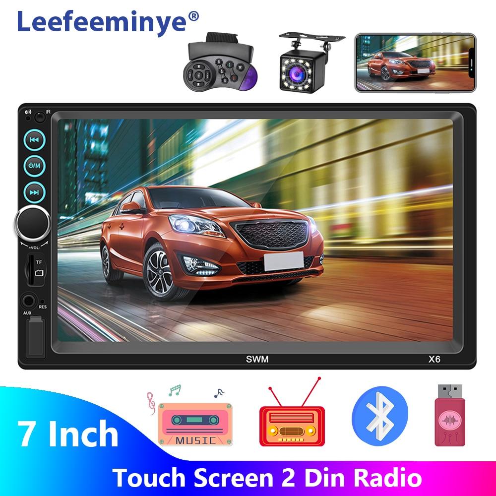 """2 din rádio do carro 7 """"hd autoradio 2din multimídia player tela de toque áudio do carro estéreo mp5 bluetooth usb tf fm câmera"""