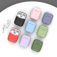 Soft Silicone Case for Apple Airpods 1/2 Case Shockproof Bluetooth Wireless Protective Cover skin Ac