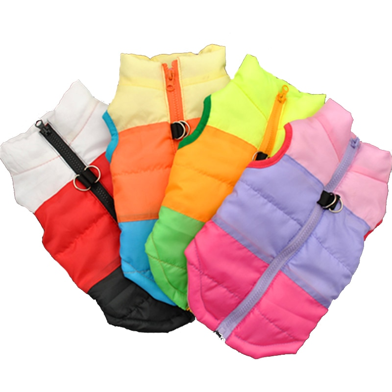 Warm Dog Clothes For Small Dog Windproof Winter Pet Dog Coat Jacket Padded Clothes Puppy Outfit Vest