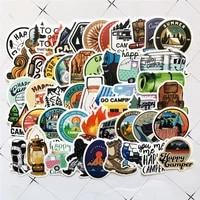 50pcs outdoor adventure hiking adventure stickers for car styling motorcycle bike phone laptop travel luggage diy toy sticker