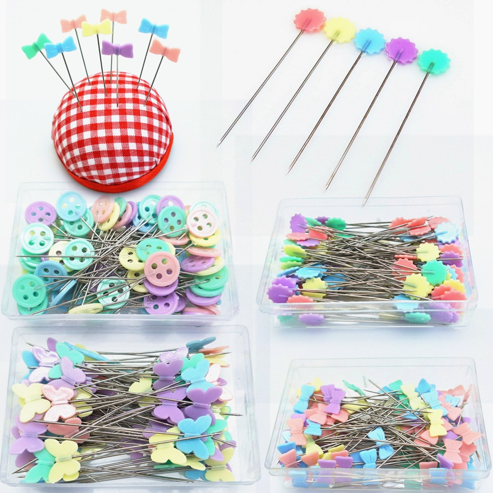 100Pcs Dressmaking Pins Embroidery Patchwork Pins Accessories Tools Sewing Needle DIY Sewing Accessories Stainless Steel 5BB5704