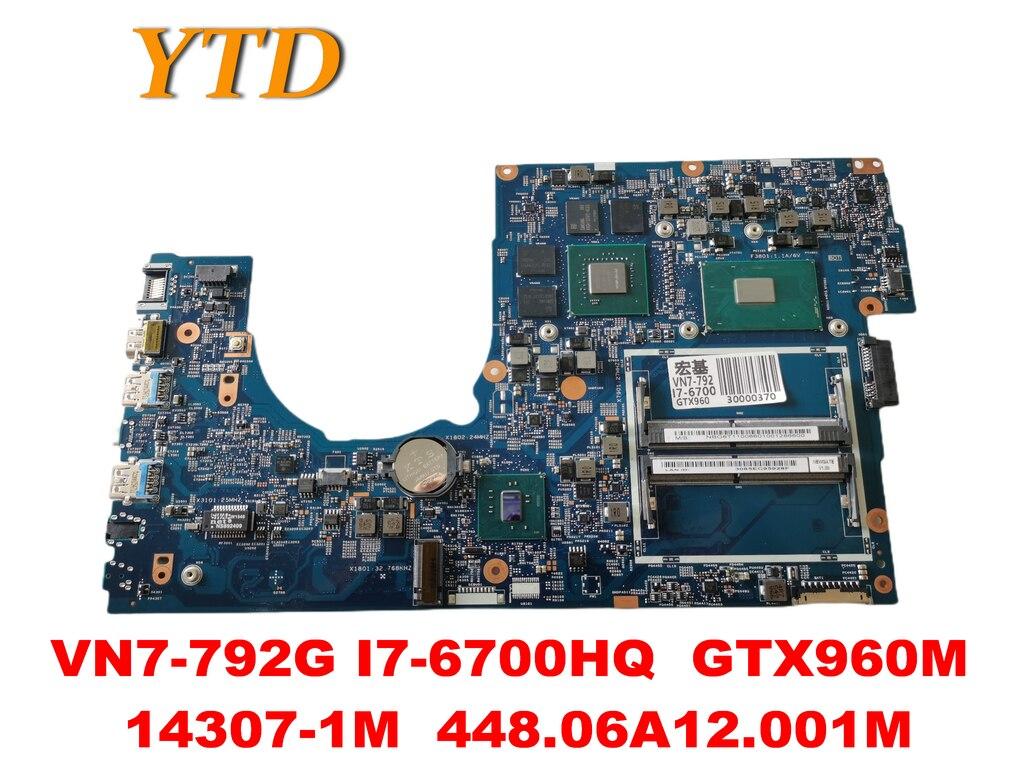 Original para ACER VN7-792G placa base de computadora portátil VN7-792G I7-6700HQ GTX960M...