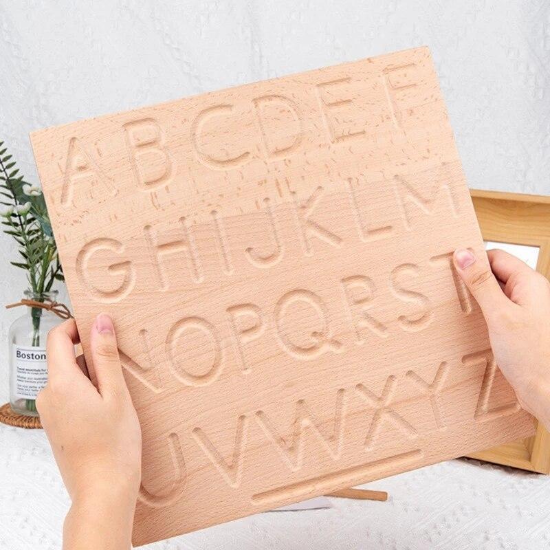 Деревянная доска для алфавита Монтессори, Обучающие игрушки для детей дошкольного возраста