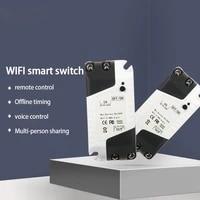 EWeLink     interrupteur a distance sans fil intelligent universel  wi-fi  220V  Module de controle  fonctionne avec Alexa Google Home  commande vocale