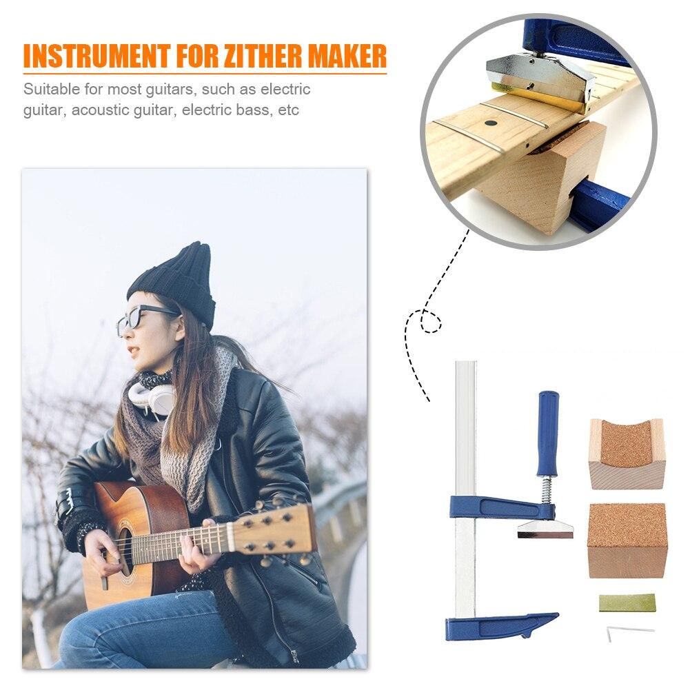 Ferramenta da imprensa do traste da guitarra com/coundhole caul de madeira instrumento musical agradável suprimentos para a guitarra elétrica acústica baixo