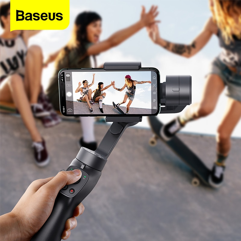 Review Baseus 3-Axis Handheld Gimbal Stabilizer Outdoor Bluetooth Selfie Stick  w/Focus Pull & Zoom for iPhone Samsung Action Camera
