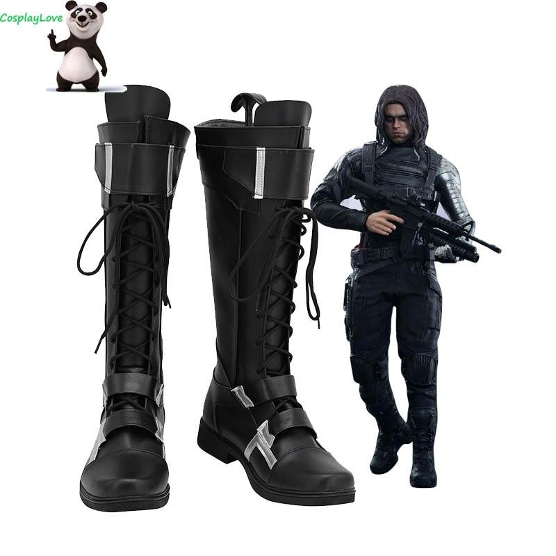 أحذية جلدية طويلة تأثيري تأثيري تأثيري ، أحذية جندي الشتاء ، جيمس بوكانان بارنز بوكي ، أحذية جلدية طويلة مخصصة