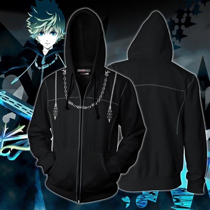 Game Kingdom corazones protagone Sora Cosplay disfraz sudadera sudaderas chaqueta con cremallera abrigo