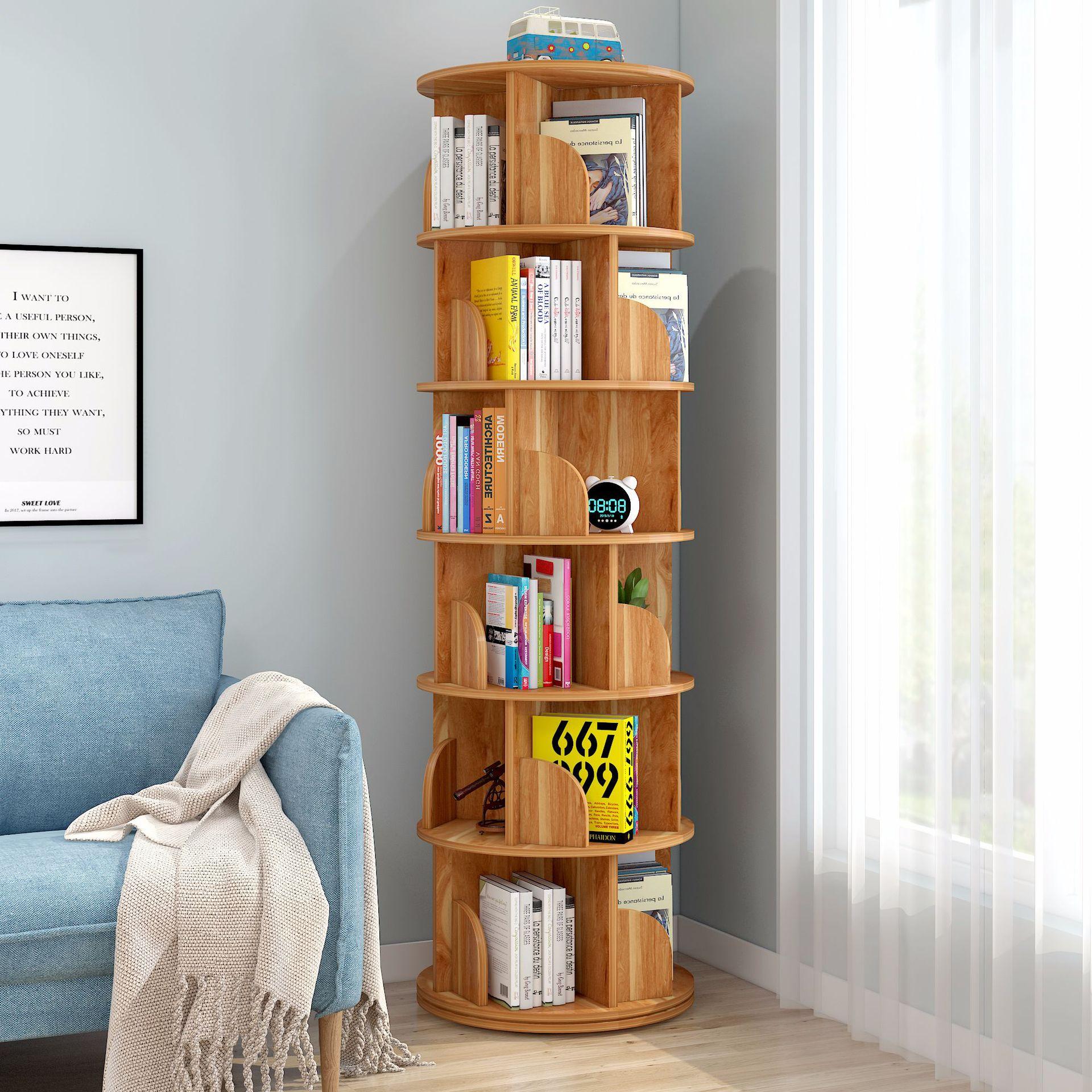 Полка для стеллаж, новая вращающаяся полка для книг, полка для учебной комнаты, мебель для Кабинета, полки с обеих сторон