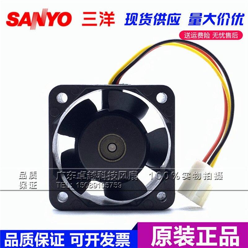 SANYO DENKI 109P0424H6D03 DC 24V 0.07A 3-wire 40x40x20mm Server Cooling Fan