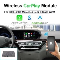 for 2003 2009 mercedes benz s class w221 apple carplay module ios13 android mirror car play android auto wired ai box airplay