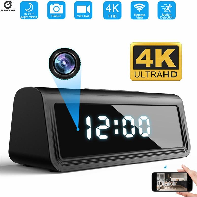 wifi camera Secret Clock micro camera Security Cam Night Vision Motion Detect Camcorder 166degree 4K HFD micro camera espia
