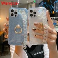 Чехол для девочек с браслетом и кристаллами для Xiaomi Mi Note 10 Pro Lite 10 CC9 Pro CC9E A3 A2 Lite Max 3 2, чехол с кристаллами и подвесками в виде медведя