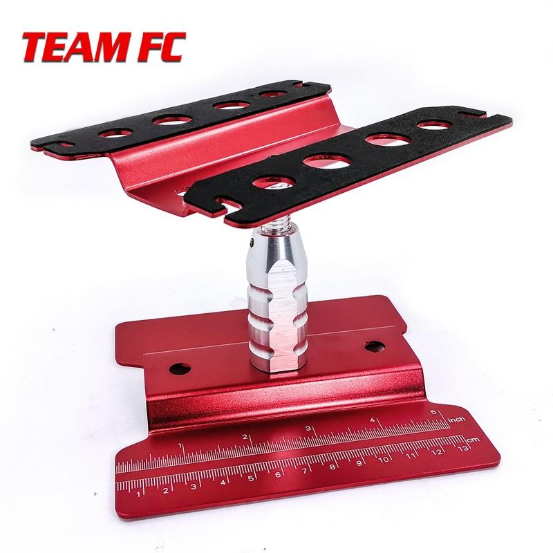 Монтажная платформа с красной подставкой, поворотная на 360 градусов ремонтная станция для RC 1/8, 1/10, TRX-4, осевая SCX10, Tamiya S149