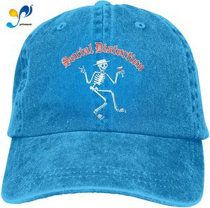 Social Distortion Retro Sports Denim Cap Adjustable Baseball Cowboy Hat Black