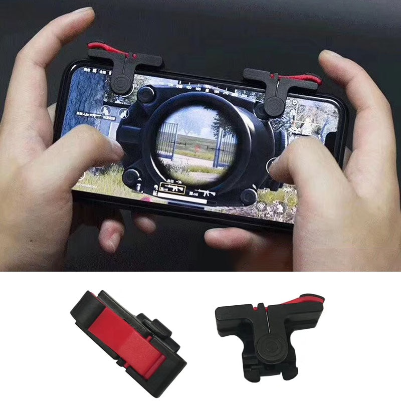 D9 Mobile Game Gamepad Trigger for PUBG Gaming Fire Joysticks Shooting Game Fire Button Controller G
