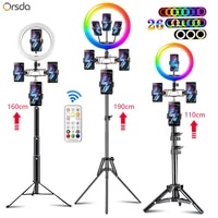 10 13 inch rgb ring light tripod 10 inch led ring light selfie ring light with stand rgb 26 colors video light video streaming