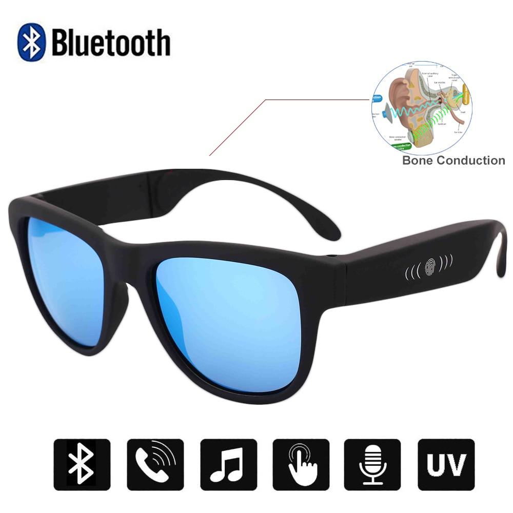 كونواي بلوتوث النظارات الشمسية العظام التوصيل الذكية النظارات الشمسية الصوت سماعات التحكم باللمس يدوي الموسيقى دعوة نظارات للقيادة