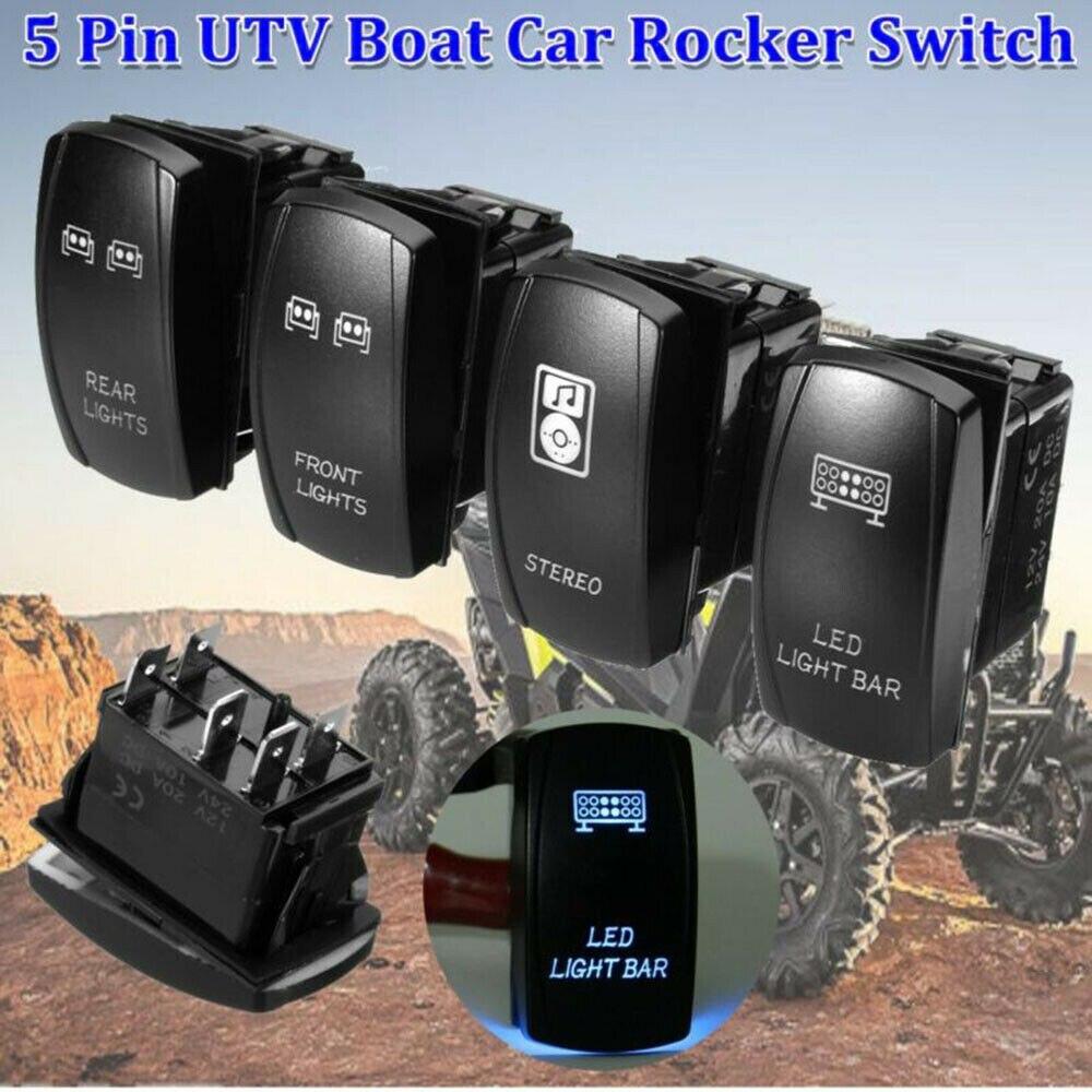 4 шт. автомобильный кулисный переключатель светодиодный светильник для UTV Polaris RZR 4 XP 900 1000 Arctic Cat автомобильные аксессуары