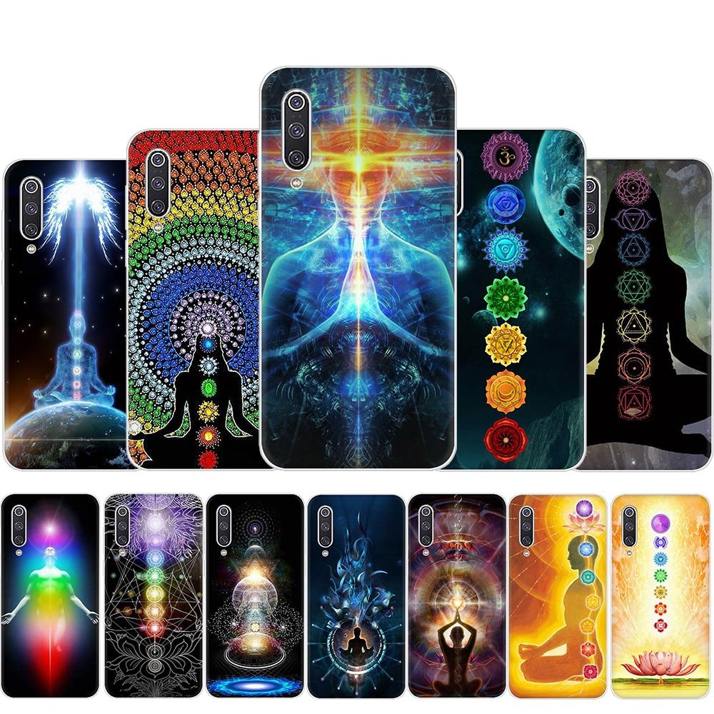 Mandala Chakra en Yoga duro funda de teléfono para Xiaomi 5 5S 5X 6 6X A1 A2 8 9 SE Lite mezclar 2S Max 3 F1 9T A3 10 Pro CC9e