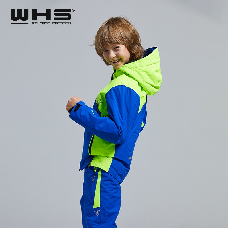 WHS Ski Suit Teenager Jacket Windproof Coats and Pant Kids Skiing Suit Waterproof Clothes 4-6 years old New