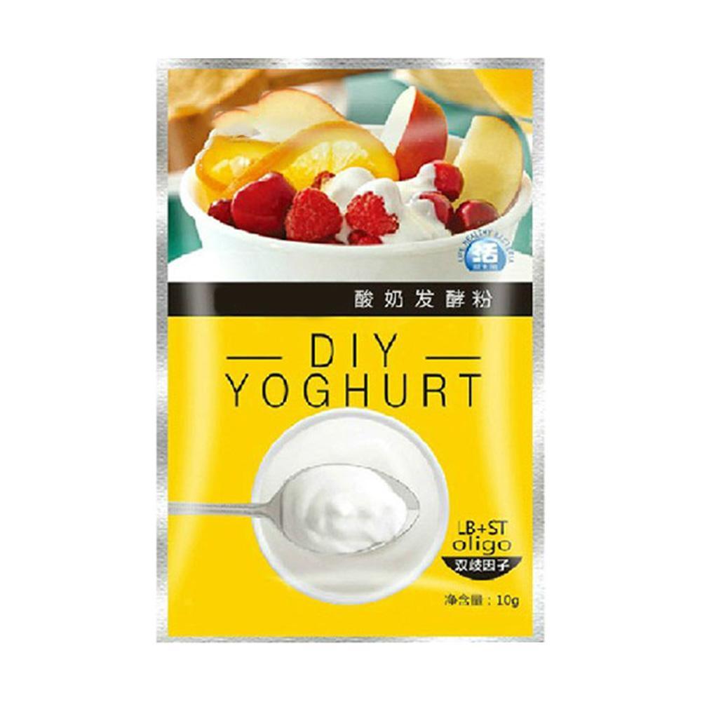 Levadura de Starer de Yogurt probiótico de 10g, polvo de fermentación Lactobacillus, fabricante casero, suministros de cocina, principiante de Yogurt