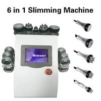 high quality 40k cavitation 6 ems pads lipo laser slimming machine vacuum skin tighten beauty machine