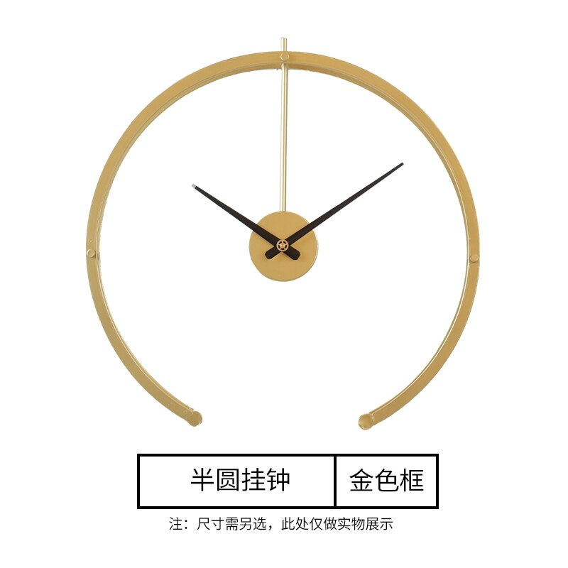European-Style Spain Wall Clock Metal Gold  Living Room Creative Modern Clocks Wall Home Decor Iron Art Watch Reloj Gift D044