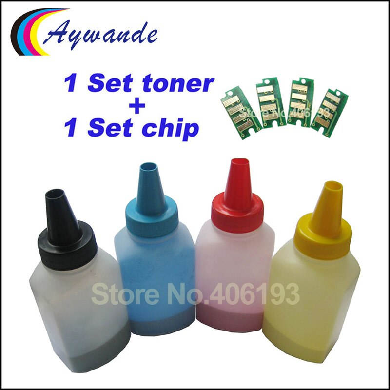 Refill toner powder reset chip for Epson AcuLaser C1700 1700 C1750 1750 CX17 for S050614 S050613 S050612 S050611 color toner