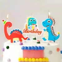 mori dinosaur decoration baby shower party candle decoratian tyrannosaurus for children birthday candles party baking supplies