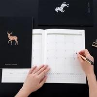 notebook planner a4 notebook agenda daily weekly monthly journal organizer 365 days plan book school office supplies stationery