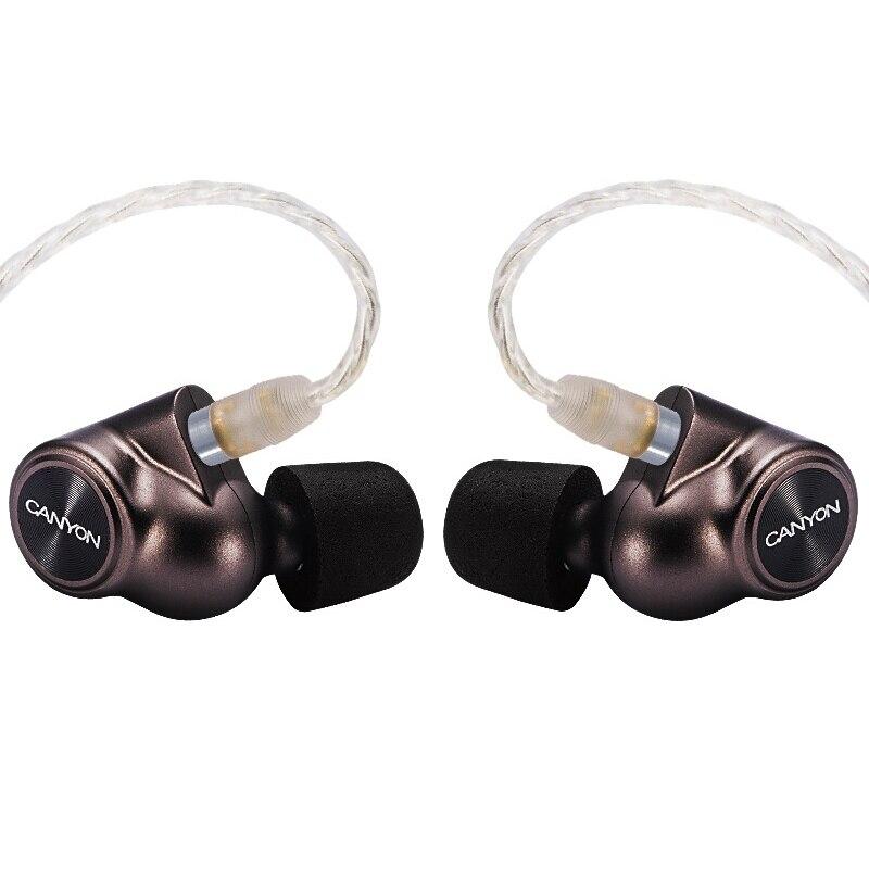 كانيون C51 نولز نوع C سماعات إلغاء الضوضاء Hifi الهجين سماعات أذن معدنية سماعة ستيريو