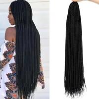 30 inch long box braids crochet braids synthetic crochet hair extensions cabelo organico fiber braiding hair for black woman