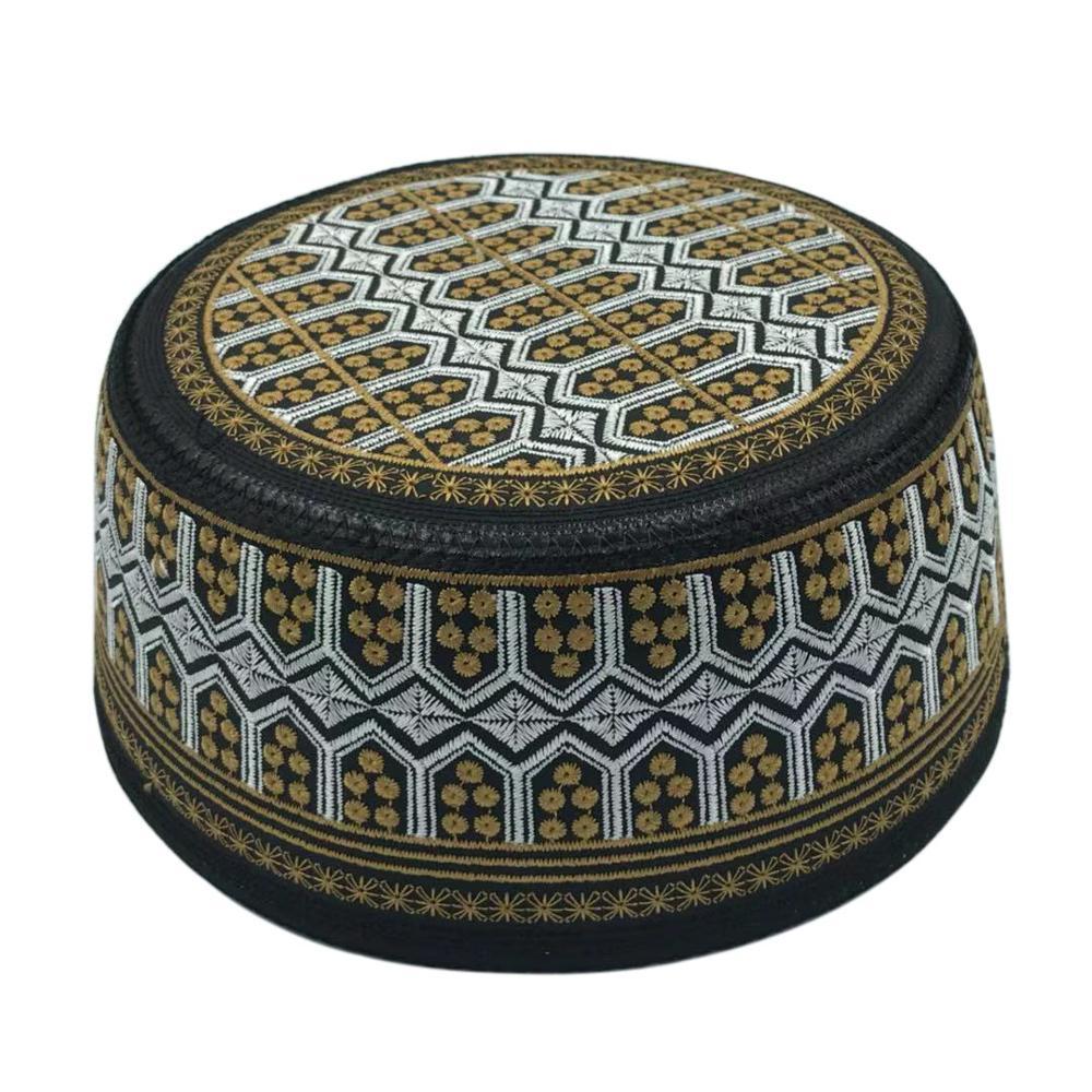 Islam Hat kippa Embroidery Prayer arabic india muslim  Hat Islamism Muslim hat jewish hat Muslim goods saudi arabia Hats for men