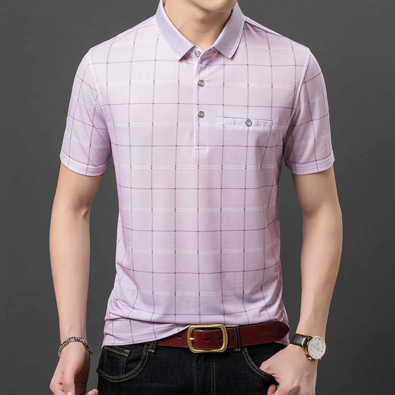 Ymwmhu Plaid Polo Shirt Men Short Sleeve White Thin Summer Polo Shirt For Men Striped Clothes Streetwear Male Shirt Plus Size Polo Aliexpress