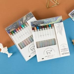 9 Colors BOOKMARK Series Gel Pen Bullet Tip 0.5mm Refills Creative Colored Pen for Children Painting Graffiti Art Supply