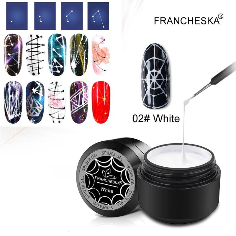 Francheska 1 Aranha Caixa Desenho Gel UV Polonês Gel Elástico Brilhante Pintura Nail Art UV Gel Absorver Off Trefilação verniz