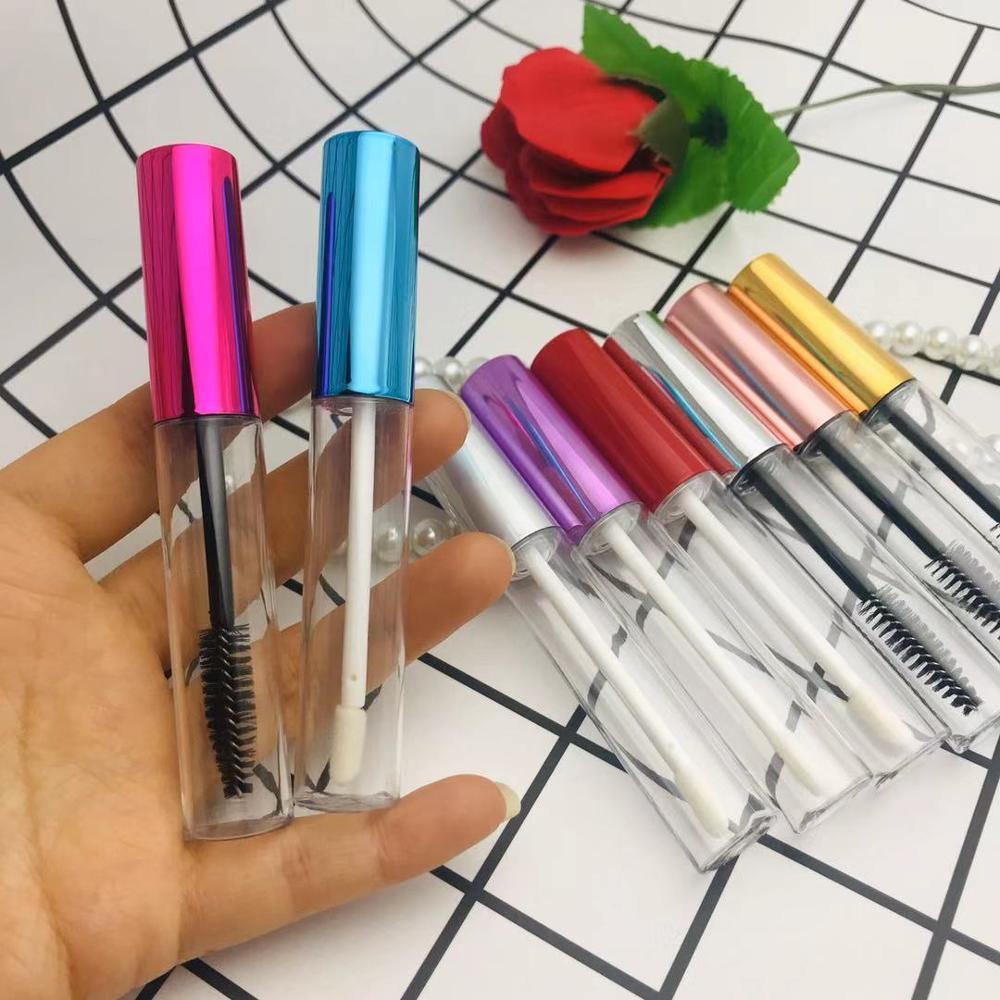 50pcs 100pcs 10ml Empty Mascara Tubes White/Silver/Gold/Black Cap Lip gloss Tube Mascara Bottle Cosmetic Packaging Container