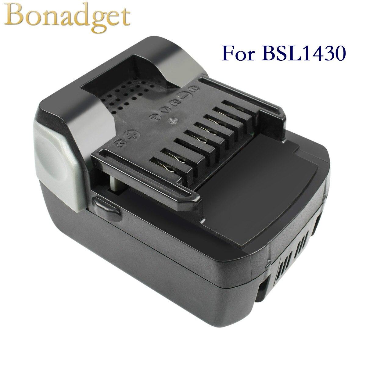 Bonadget 4000mAh 6000mAh 14.4V Batteria נטענת סוללה עבור Hitachi BSL1430 BSL1415 C14DSL CD14DSL כלי חשמל סוללה