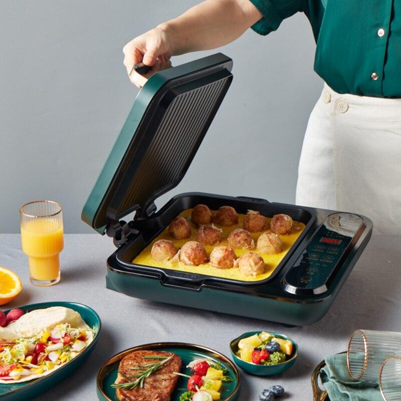 Liren مقلاة خبز كهربائية وعاء الطبخ المنزلية على الوجهين التدفئة القابلة للإزالة والغسيل في واحد مقلاة الفطائر المحلاة