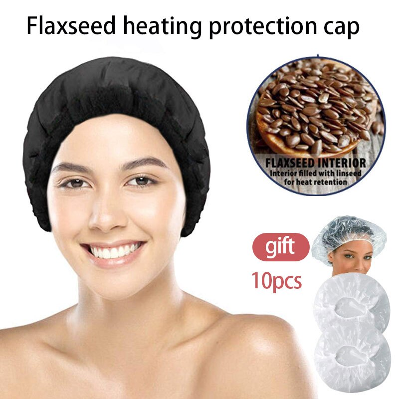 microwavable hot head thermal heat cap heating steamer for hair care beauty Flax seed Baked oil Unpl
