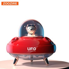 Dual Nozzles Wireless UFO Humidifier Desktop Air Humidifier Cute Planet Bear LED Light Ultrasonic Aroma Essential Oil Diffuser