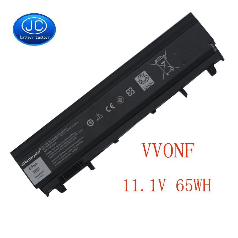 JCbatterystar Korea komórki nowy VV0NF akumulator do laptopa do DELL Latitude E5440 E5540 serii VJXMC N5YH9 0K8HC 7W6K0 FT6D9 11.1V 65WH