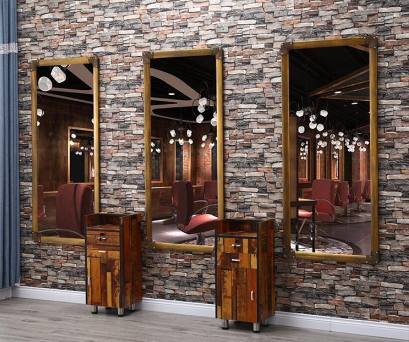 Парикмахерское зеркало чистая Ретро парикмахер магазин зеркало для макияжа один кадр парикмахерский салон специальные