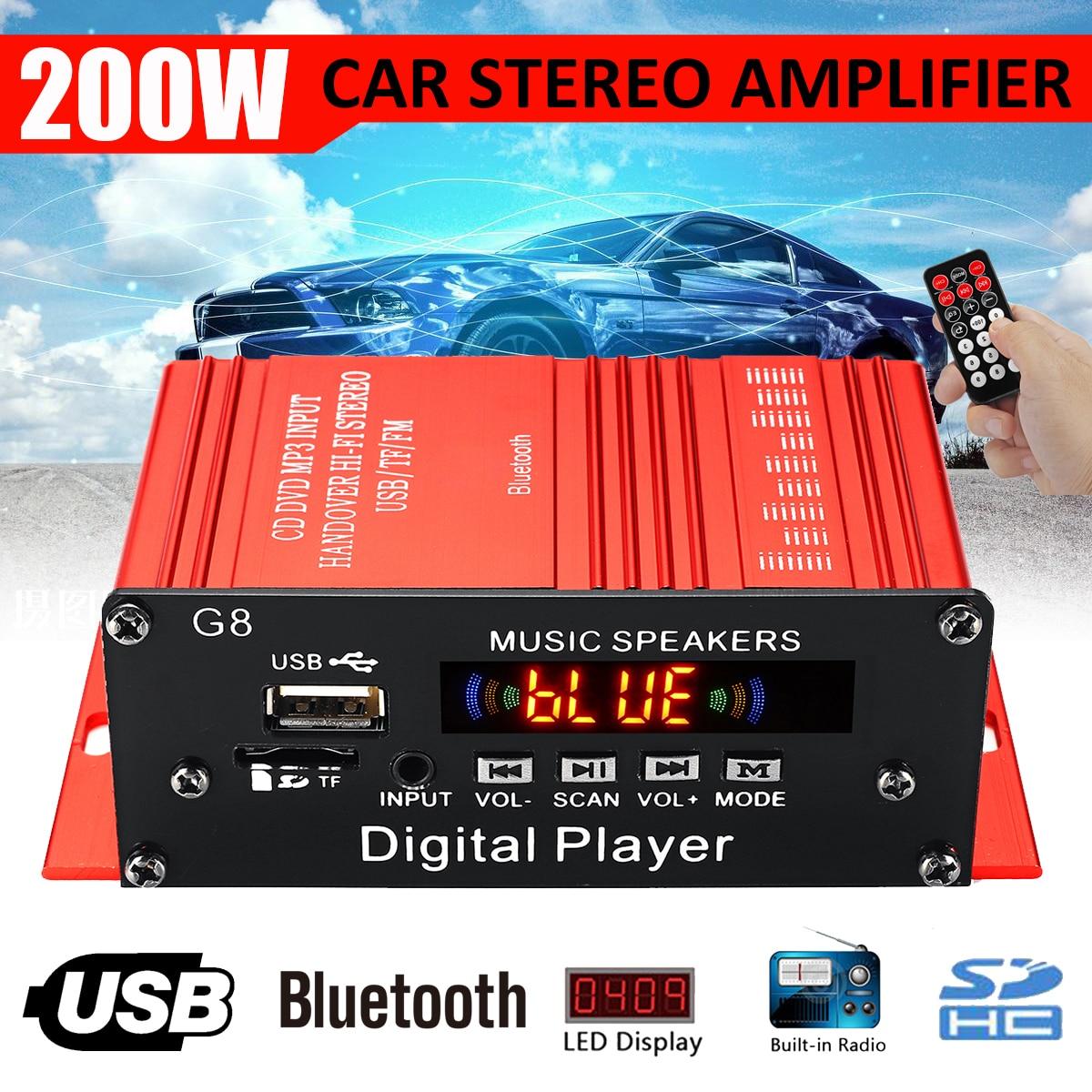 Amplificador DE Audio HIFI para coche, 100W + 100W, 12V, 2 canales,...