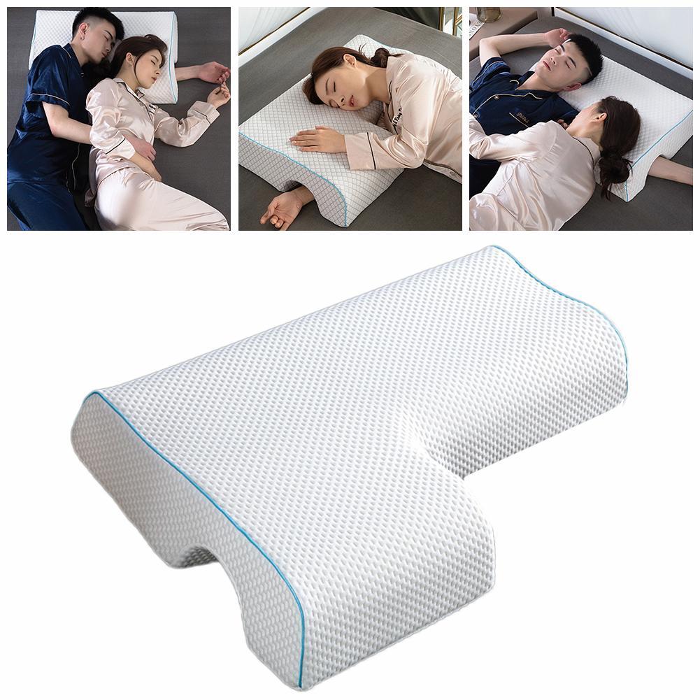 وسادة ميموري فوم مضادة للضغط للزوجين ، وسادة نوم على الجانب ، حماية عنق الرحم ، تقليل آلام الرقبة والذراع