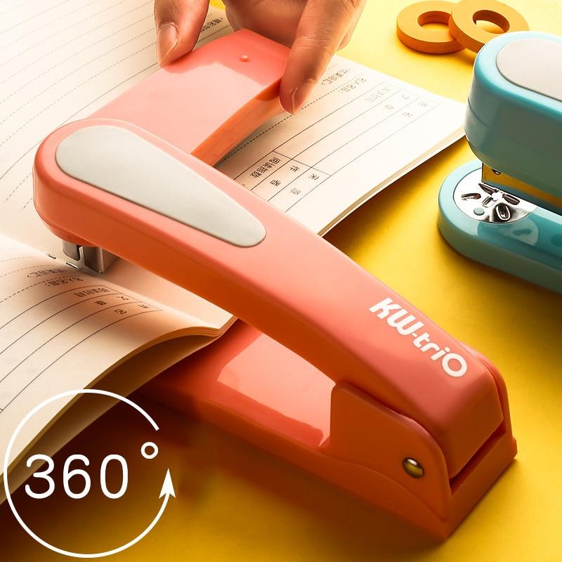 360 Вращение сверхпрочный степлер использовать 24/6 скобы легко длинный степлер школьный бумажный степлер офисные переплеты